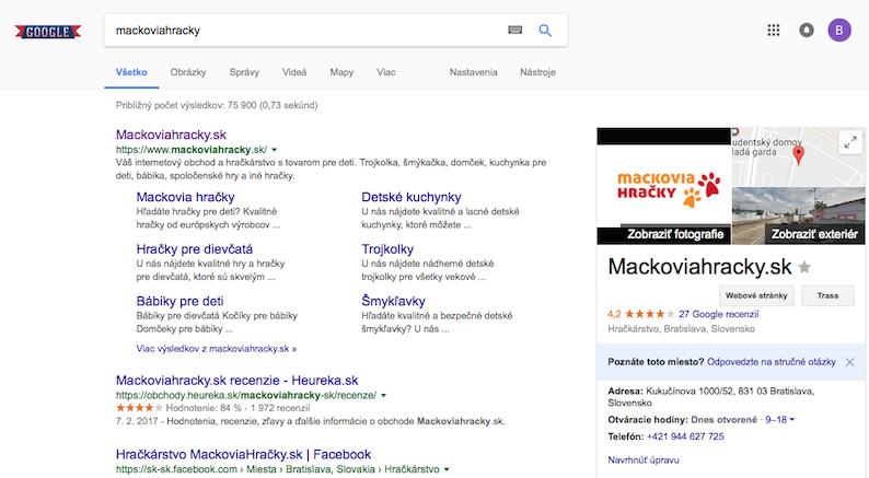 serp organické vyhľadávaie Google