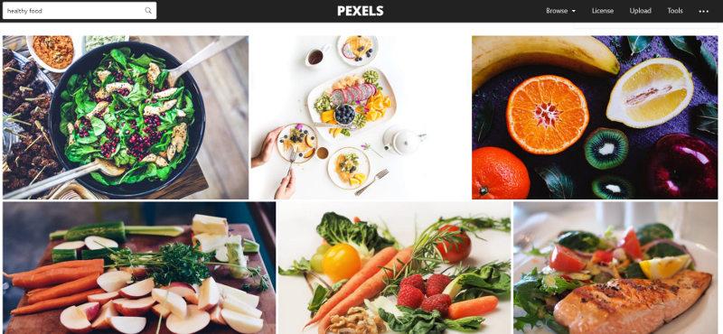 Databáza obrázkov pexels