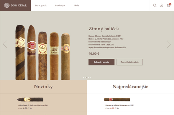 Inteeernetový obchod Domcigar.sk