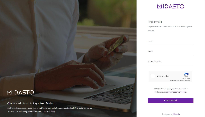 Registrácia vlastného e-shopu