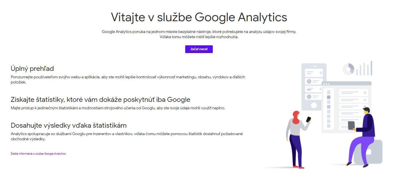 Zakladanie Google Analytics
