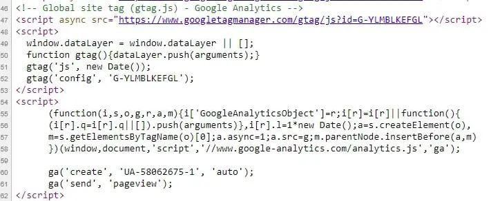 Kód Google Analytics